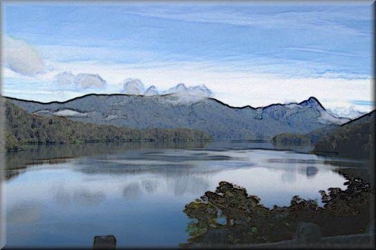 Lake Cloud Reflection